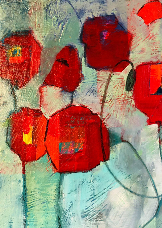 Dancing Poppies Art | PoroyArt