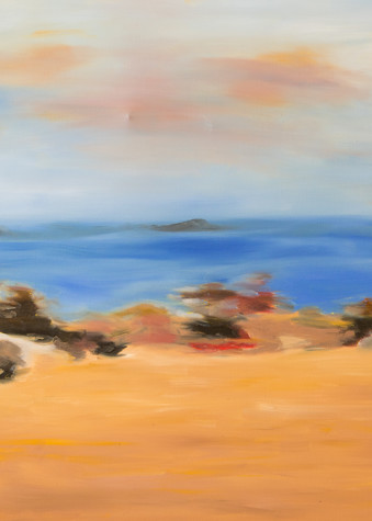 """Driving by Ocean Beach print from an original oil painting by Ane Howard"""""""