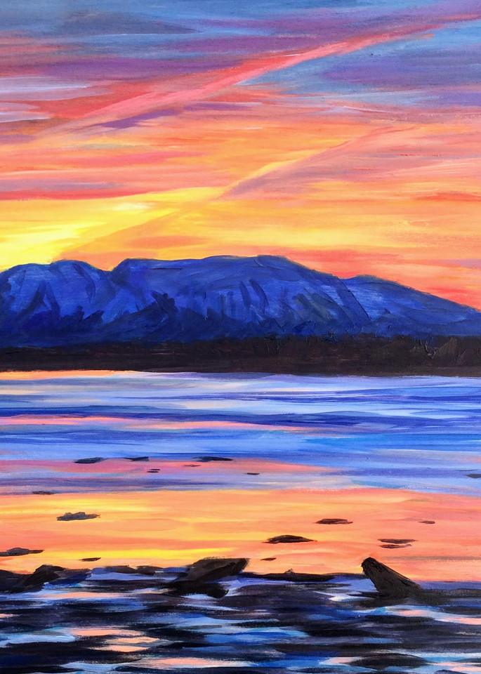 Mt. Susitna Sleeping Lady Mountain Prismacolor Alaska Art Print by Amanda Faith Thompson