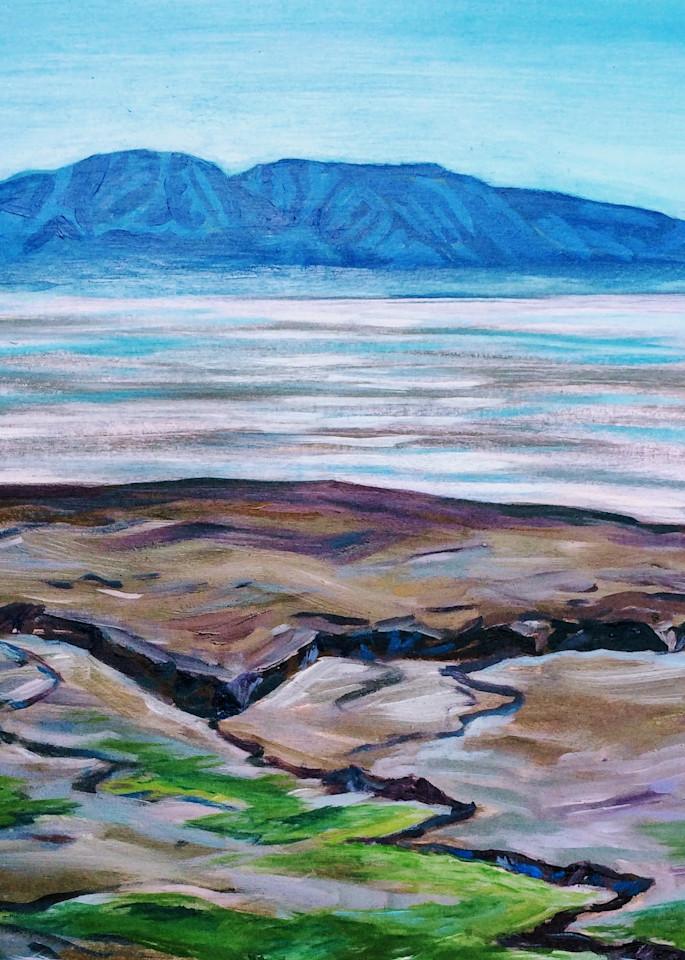 Sleeping Lady Mountain Spring Tide Alaska art print by Amanda Faith Thompson