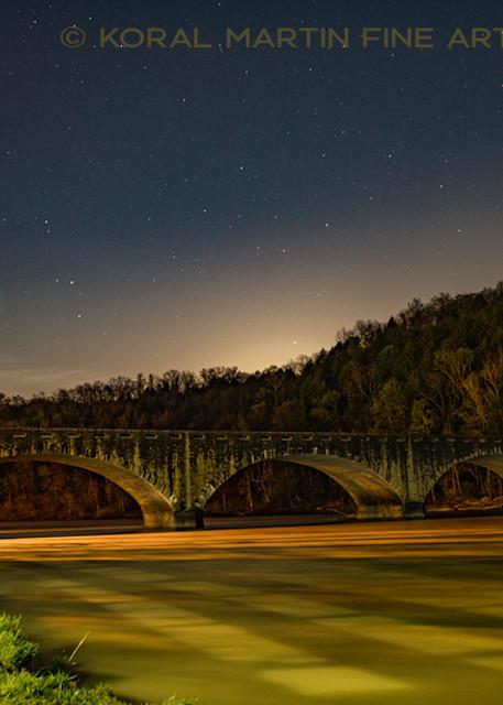 Cumberland Falls Bridge Night Photography Photograph 8437  | Kentucky Photography | Koral Martin Fine Art Photography