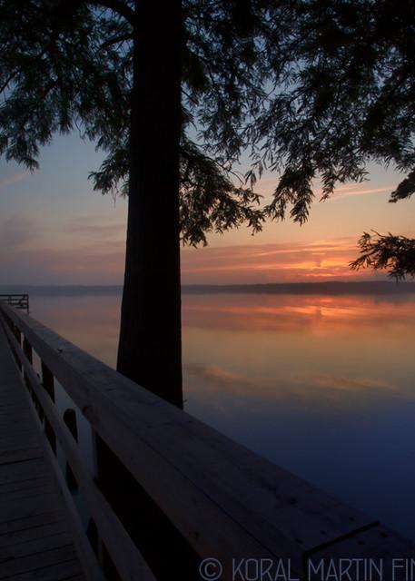 Sunrise Dock Foggy Reelfoot Lake Photograph 0372 E RLT LF  | Tennessee Photography | Koral Martin Fine Art Photography