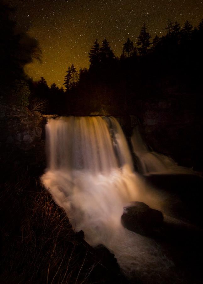 Blackwater falls Light Painting Photograph 1485  | Night Photography | Koral Martin Fine Art Photography