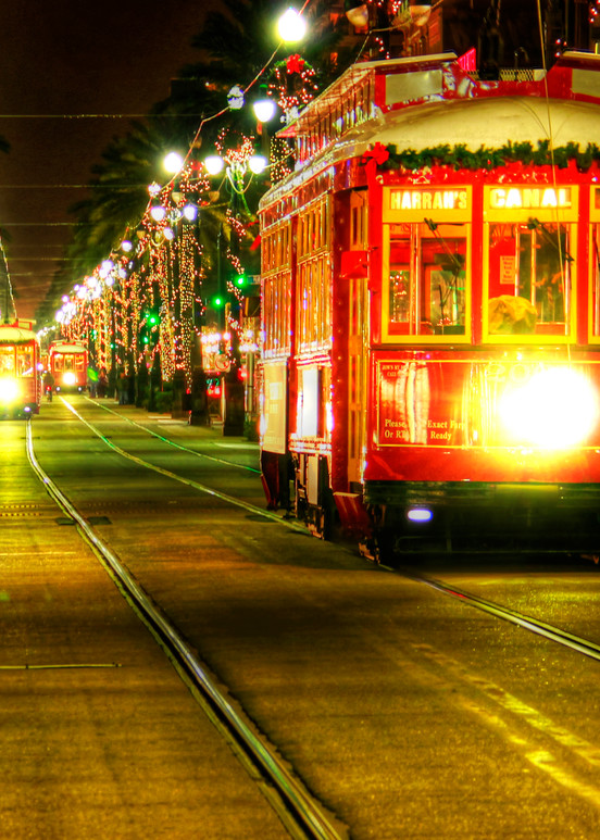 Canal Street At Christmas Art | Steve Ellenburg Art