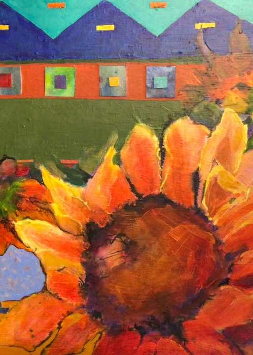 Taos Sunflower Art   PoroyArt