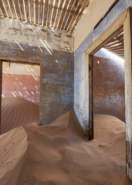 Indoor Sand Dune with Slithers of Light