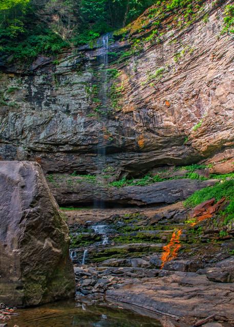 Hemlock Falls during dry season photography prints