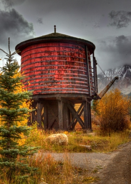 Trout Lake Water Tank Photograph 8406 | Historical Colorado Photography  | Koral Martin Fine Art Photography