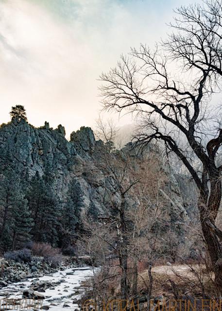 Winter Scene of Boulder Creek Photograph  9103 |  Boulder Creek Trail | Colorado Winter Photography |  Koral Martin Fine Art Photography