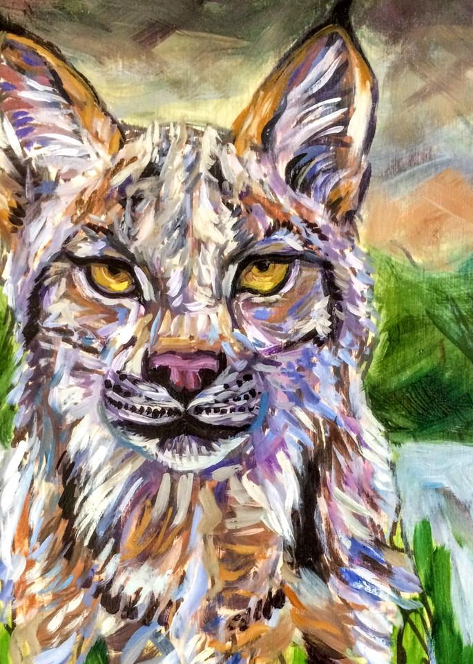 Alaska Lynx by Forest Art Print by Amanda Faith