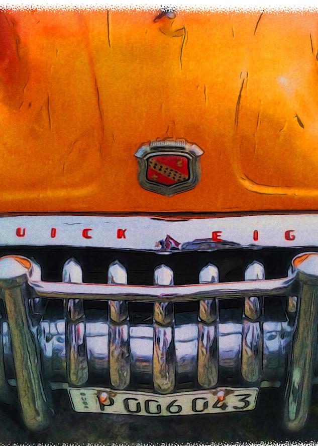 Orange Buick Art   photographicsart