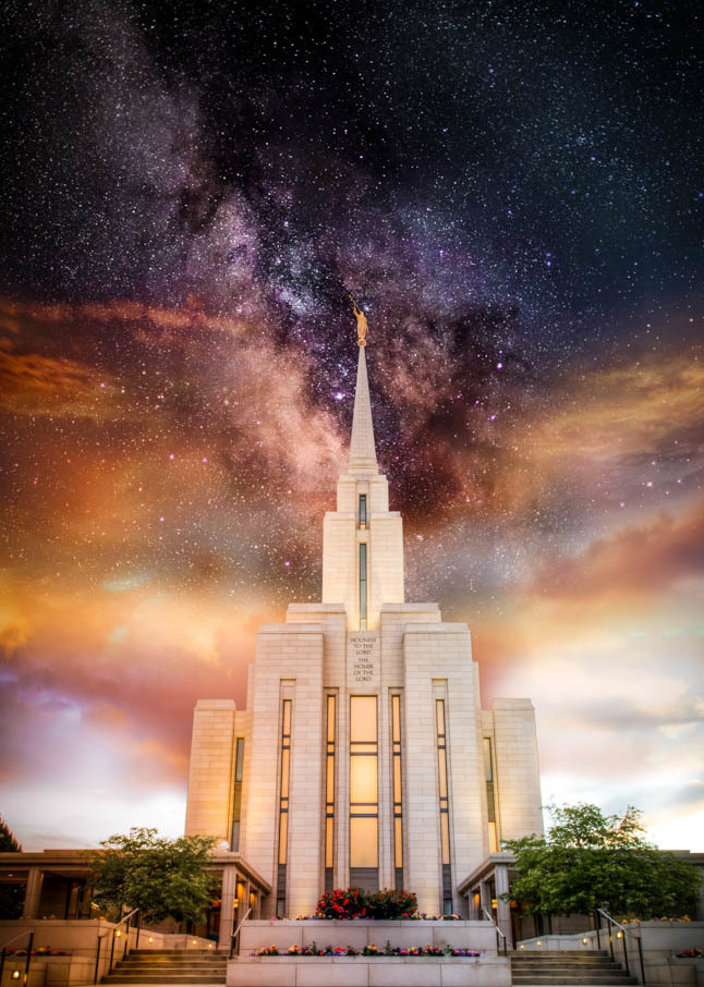 Oquirrh Mountain Temple - Milky Way