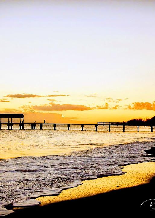 Sunset Over Waimea Pier | Shop Prints | Robert Shugarman Photography