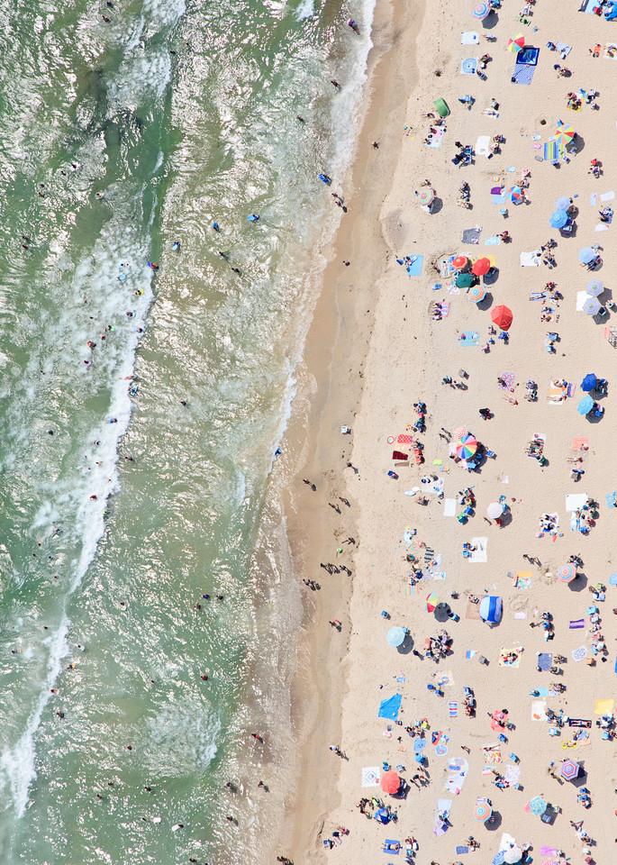 """Misquamicut Beach Summer Afternoon"" Aerial Westerly RI Fine Art Coastal Photography"