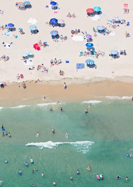 """Over Weekapaug Beach"" Westerly RI Aerial Large Format Photograph"