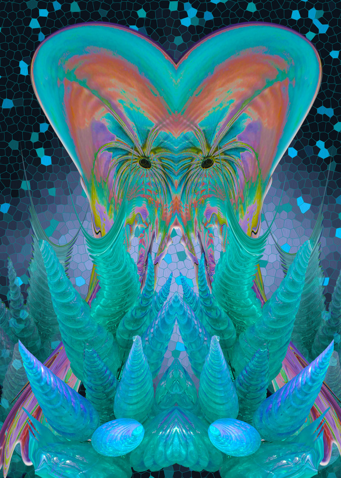 Chihuly Jellyfish, print of photograph of Chihuly glass design, Kew Gardens, London for sale as digital art by Maureen Wilks
