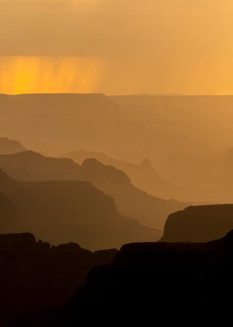 Moody rain in the Grand Canyon
