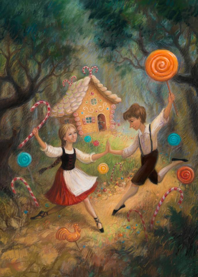 Hansel & Gretel Fairy Tale Ballet pastel print