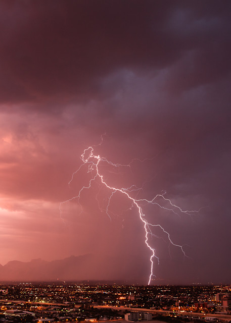 A bolt over Tucson