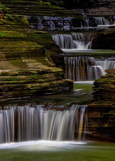 Watkins Glen stairway waterfalls photography prints