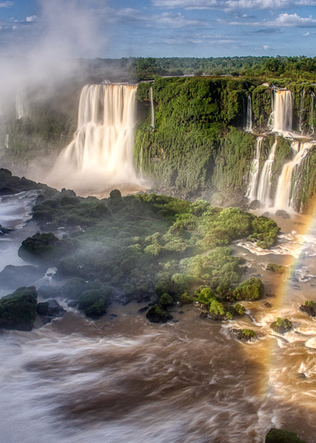 Iguassu Falls With Rainbow Photography Art | Peter Batty Photography
