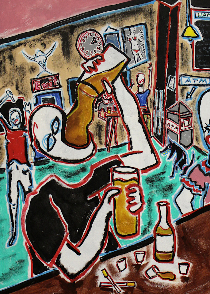Bar Painting by Paul Wylenczek Available