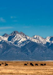 Moonrise Over The San Luis Valley Photography Art | Peter Batty Photography