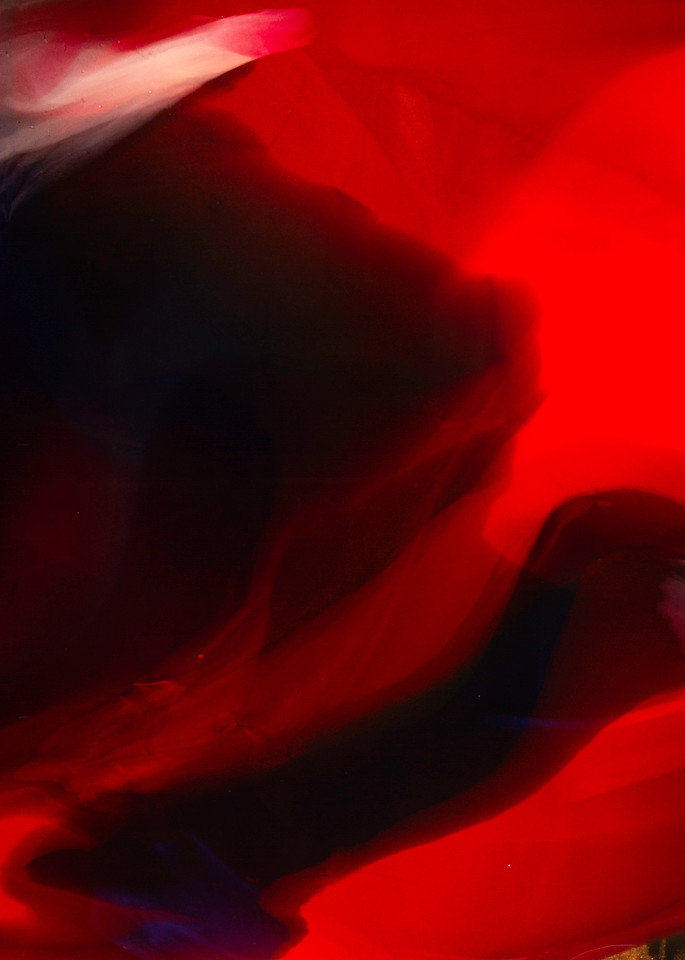 en rouge, dramatic red acrylic painting by Beth Shapiro