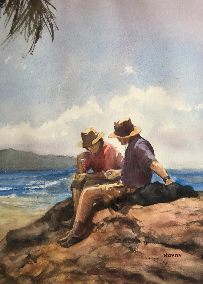 On The Rocks (Print) Art | Nishitas Art