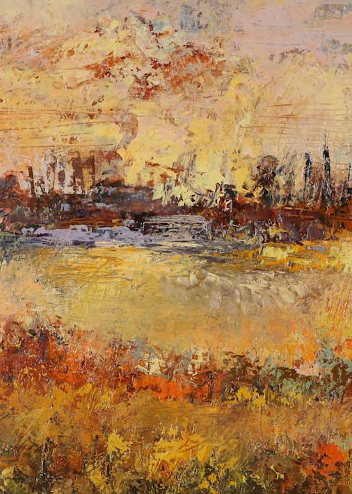 Contemporary Autumn Landscape Canvas Wall Art