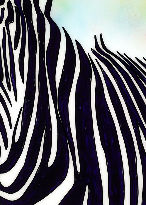 I The Moment of a Blue Sun   Zebra Art   JD Shultz