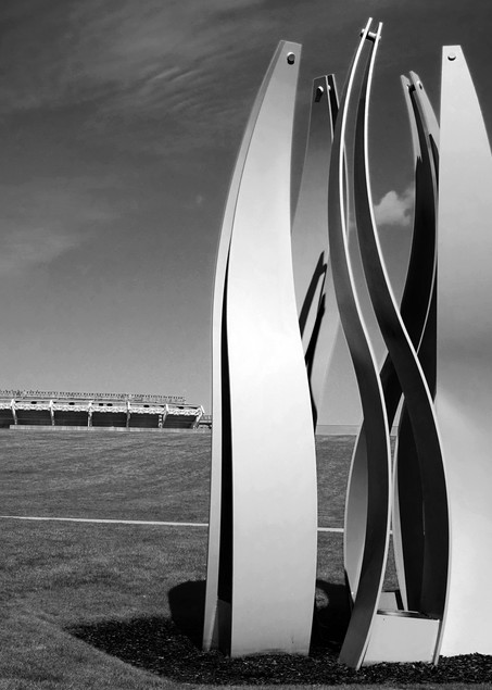 Steel Sculpture & Stadium Photography Art | Peter Welch
