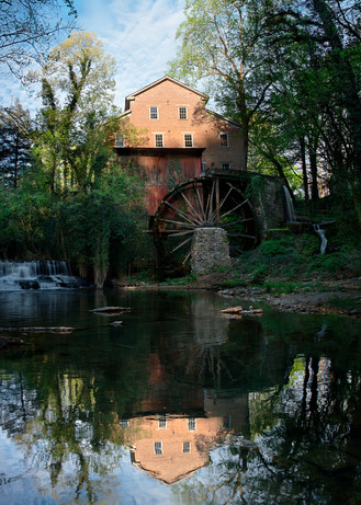 Moon Over Falls Mill Photography Art | templeimagery