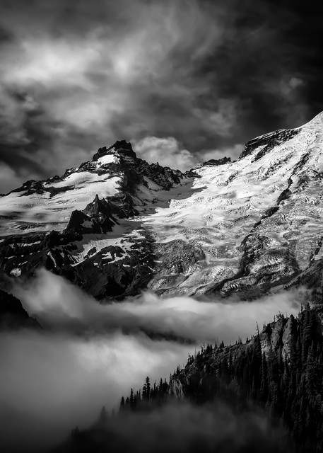Shop Photographs of Mount Rainier and Little Tahoma from The Wonderland Trail