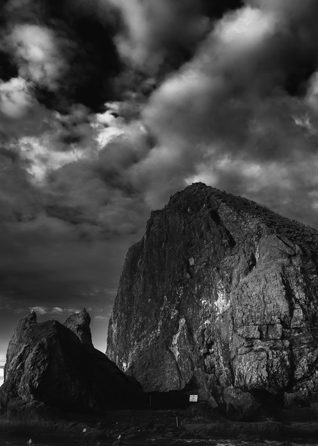 Haystack Rock Storm Clouds Photography Art | Troy Mason Photography