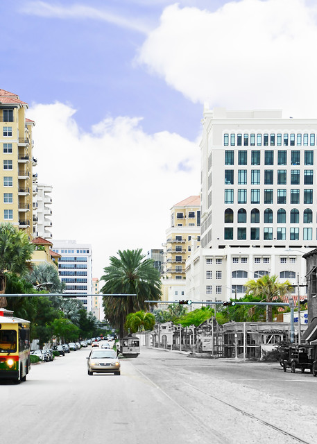 Looking South On Ponce De Leon Boulevard   Coral Gables Art   Mark Hersch Photography