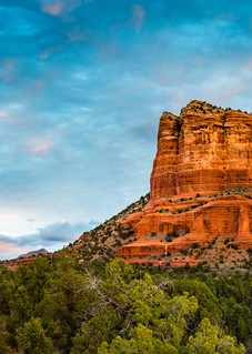 Bell Rock and Courthouse Butte at Sunrise