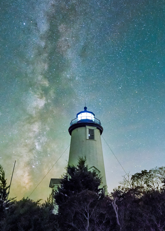 Cape Poge Light Milky Way  Art | Michael Blanchard Inspirational Photography - Crossroads Gallery