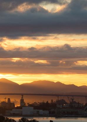 Stormy Sunrise On The Coronado Bridge Photography Art | Kristofer Reynolds Photography
