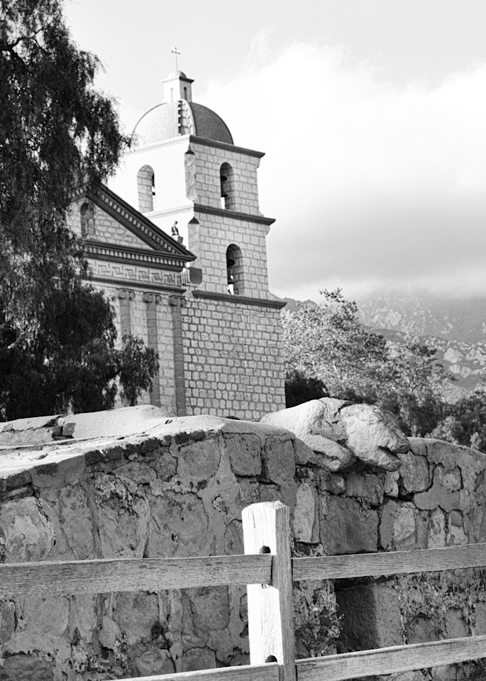 Mission Santa Barbara Bell Tower Photography Art | Rosanne Nitti Fine Arts