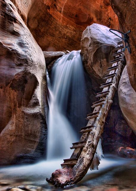 Kannaraville Slot Canyon Lower Falls Photograph  3027H| Kanarra Creek | Slot Canyon Photography | Utah Photography | Koral Martin Fine Art Photography