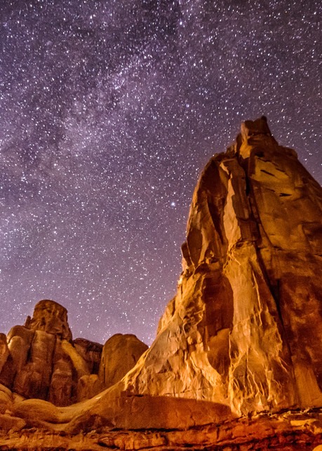 Arches Park Milky Way Art | Michael Blanchard Inspirational Photography - Crossroads Gallery