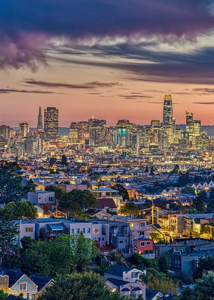 San Francisco Skyline, 2019. Photography Art | Tom Stahl Photography