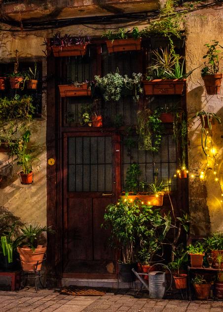Doorway At Christmas, El Born, Barcelona, 2015. Photography Art | Tom Stahl Photography