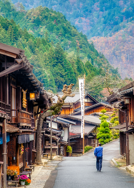 Main Street, Tsumago, Japan. 2018. Photography Art | Tom Stahl Photography