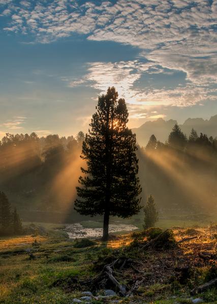 Sunrise, The Dolomites, Italy, 2015. Photography Art | Tom Stahl Photography