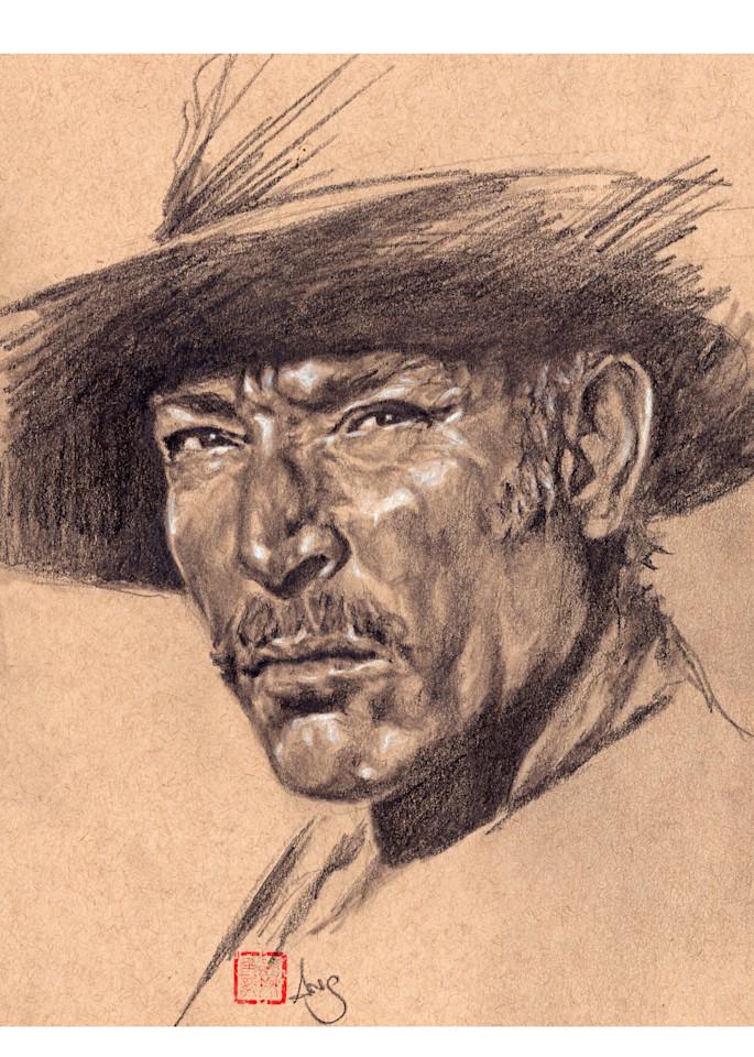 Lee Van Cleef, drawing by Ans Taylor