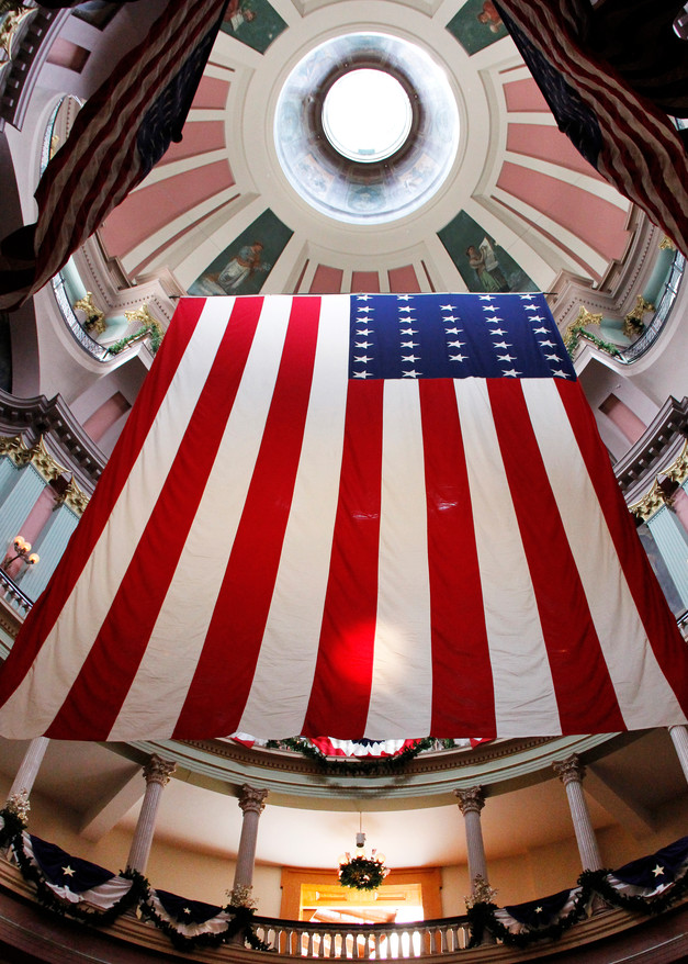 Garrison Flag at Old Courthouse