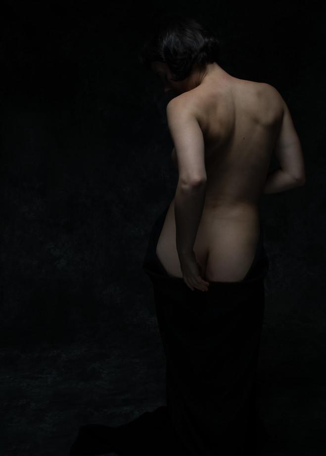 Nude With Black Drape Photography Art   Dan Katz, Inc.