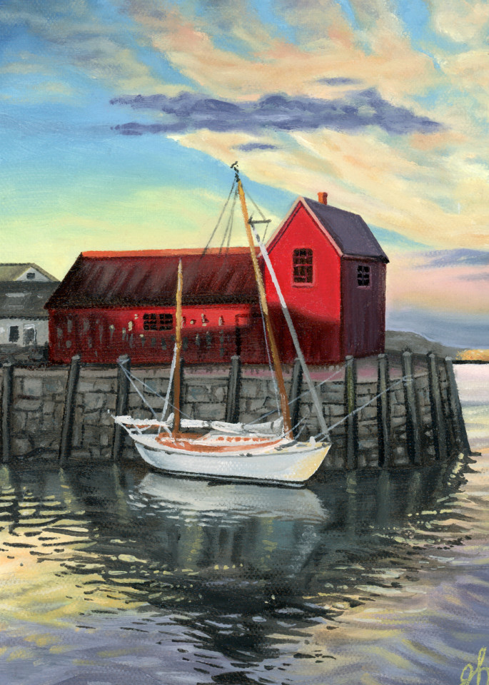Rockport Red Barn Art | De'Ago Art